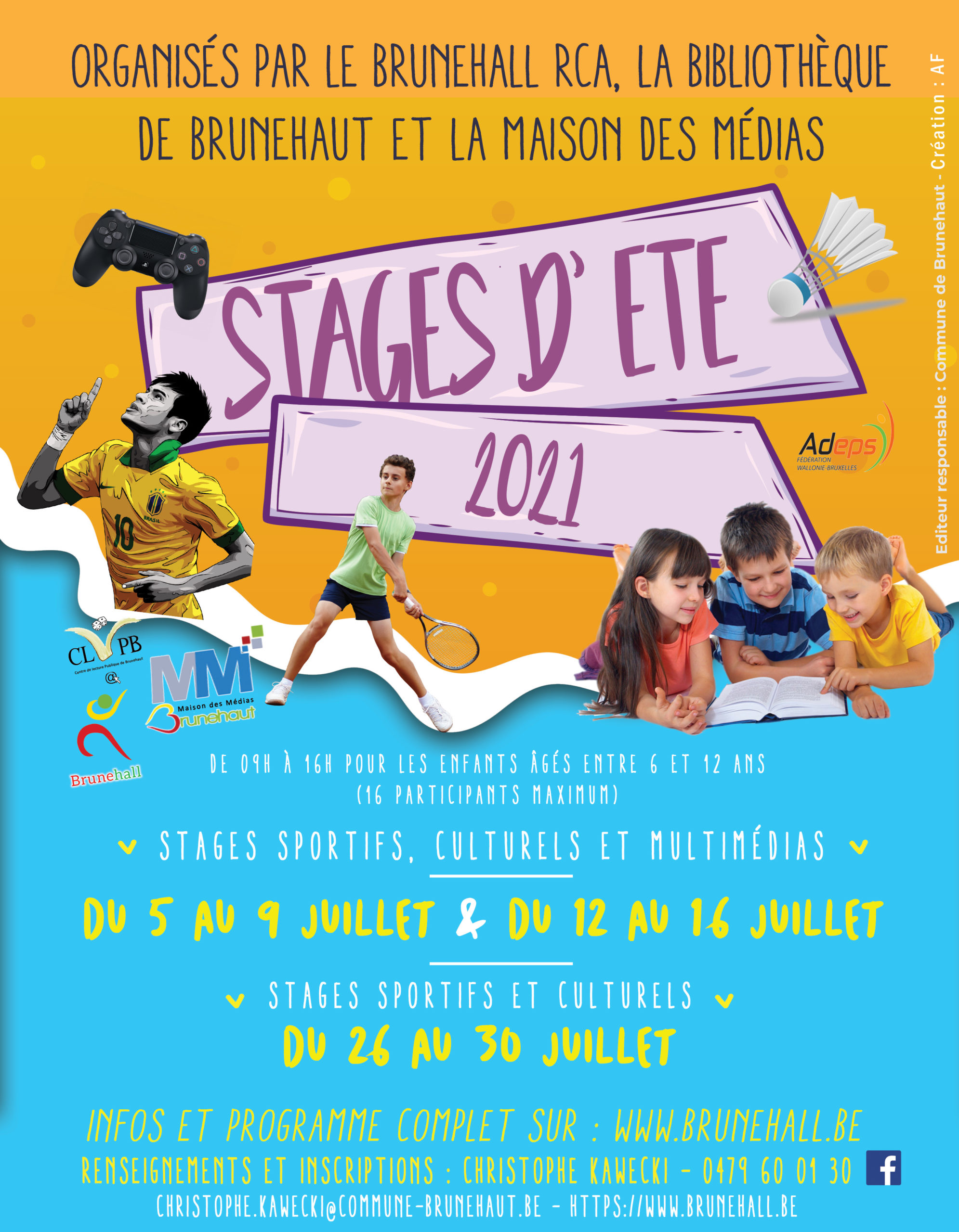 Stages ete 2021 Brunehaut
